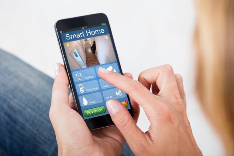 smartphone bediening